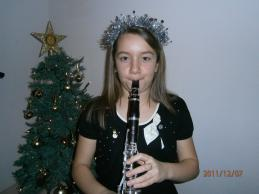Emilia Palmer Young Musician performing at our Carol Service.
