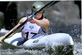 Jessica Oughton: Womens World Kayak Champion2009 (from Birstall), sponsored by our club.