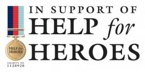 Help for Heroes logo.
